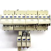 (Lot of 7) Mitsubishi CP30-BA Circuit Protectors 15A, 30A, 1-Pole, 3-Pole 220VAC