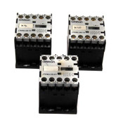 Lot of 3 Omron J7KNA-09-01 Mini Motor Contactors 24VDC Switch 9A