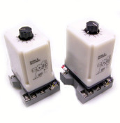 Lot of 2 Potter&Brumfield Timing Relay CB-1038D-38 w/ IDEC SR3P-06 Socket
