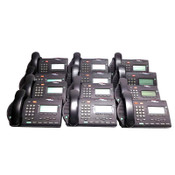 (Lot of 12) Nortel M3903 Charcoal Network Business IP Office Phones w/ Stands