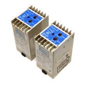 (Lot of 2) Crompton 252-PVKU Voltage Protectors 3-Phase 480VAC L/L Trip Relay