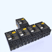 (Lot of 5) Mitsubishi NF-SF3015 3-Pole 15A Circuit Breakers w/ Trip Switches