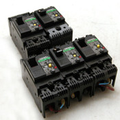 Lot of 5 Fuji Electric EG32AC-EB2AEAC-010B 10 Amp Circuit Breakers 100-230 VAC