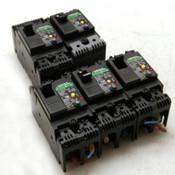 Lot of 5 Fuji Electric EG32AC-EB2AEAC-010B 10 Amp Circuit Breakers 100-230 VAC