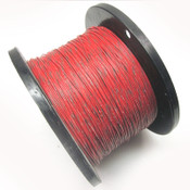 18AWG Red Hook Up Wire w/ Green Stripe 300V Electrical