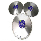 "(3) NEW Empire Tool Traders 14"" Segmented Wet/Dry Cutting Diamond Saw Blades"