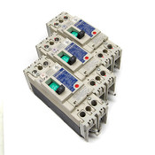 (Lot of 3) Mitsubishi Electric NF50-SWU2-005 No-Fuse 5A Circuit Breakers 2-Pole
