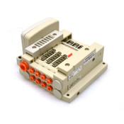 NEW SMC SS5V1-W10S10D-04DS-N1 Manifold Plug-In Base SS5V1 DIN Rail Mount