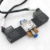 SMC  VZ3223-5LZ-C4 Double Solenoid Valve 24VDC w/ Quick Release Fittings VZ3200