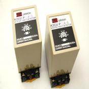 2 Omron K2CU-P0.5A-B 110/220 VAC 5A Heater Fault Detectors w/ Sockets