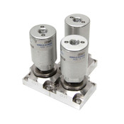 Lot of 3 Parker Veriflo SM930LPNCS20 Diaphragm Air Valves 45700247 Stainless
