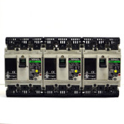 (Lot of 3) Fuji Electric SG33C Industrial 3-Pole 10A, 20A Circuit Breakers E.L.