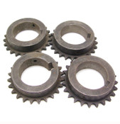 "Lot of 4 Martin 40B24 Finished Sprocket 24 Teeth 2.25"" Bore 3.25"" Hub"