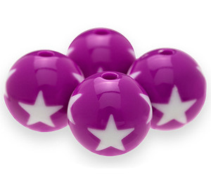 Star Chunky Beads 16mm (purple)
