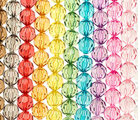 Clear Faceted Round Beads 20mm