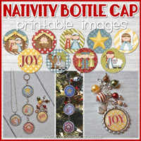 Nativity Christmas Bottle Cap Images DOWNLOAD