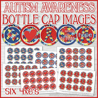 "AUTISM Awareness 1"" Bottle Cap Images Printable DOWNLOAD"