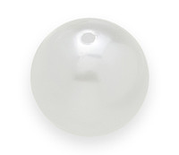 Faux Pearl Chunky Beads 22mm WHITE