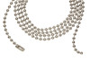 Ball Chain Necklaces Silver Tone 24""