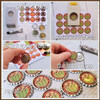 "THANKSGIVING Collection, Turkey, Pumpkin, Pilgram 1"" Bottle Cap Images Printable DOWNLOAD"