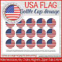 "USA FLAG 1"" Bottle Cap Images Printable DOWNLOAD"
