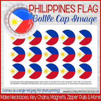 "Philippines FLAG 1"" Bottle Cap Images Printable DOWNLOAD"