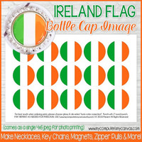 "Ireland FLAG 1"" Bottle Cap Images Printable DOWNLOAD"