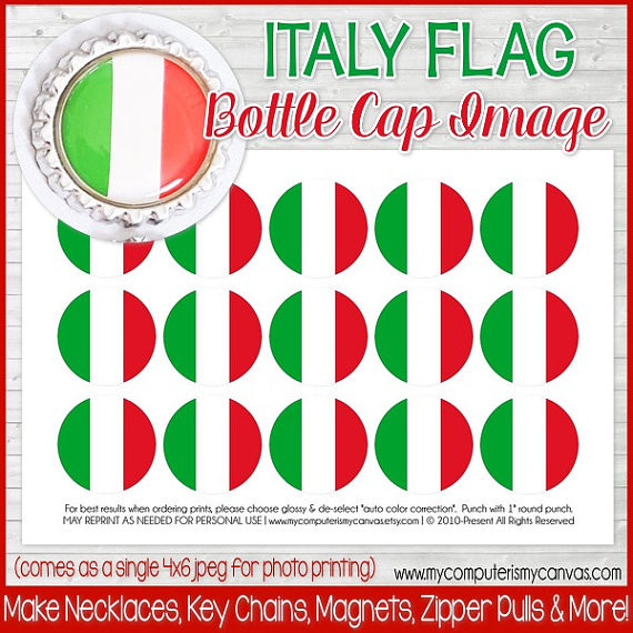 photograph about Printable Italy Flag identified as Italy FLAG 1\