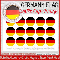 "Germany FLAG 1"" Bottle Cap Images Printable DOWNLOAD"