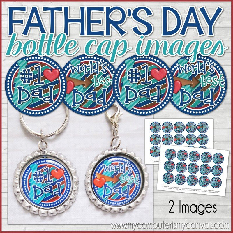 image about Printable Bottlecap Images known as Worlds Suitable Father Fathers Working day, 1\