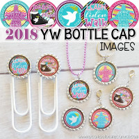 "2018 YW LDS 2018 Mutual Theme, Peace in Christ, D&C 19:23, 1"" Bottle Cap Images Printable DOWNLOAD"