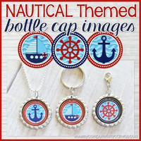 Nautical {ANCHOR Series} Bottle Cap PRINTABLE DOWNLOAD