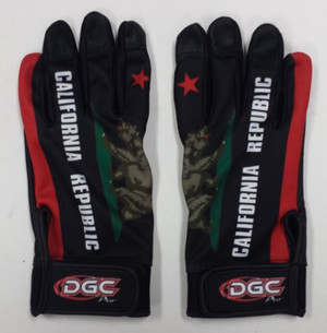 California Black Batting Gloves