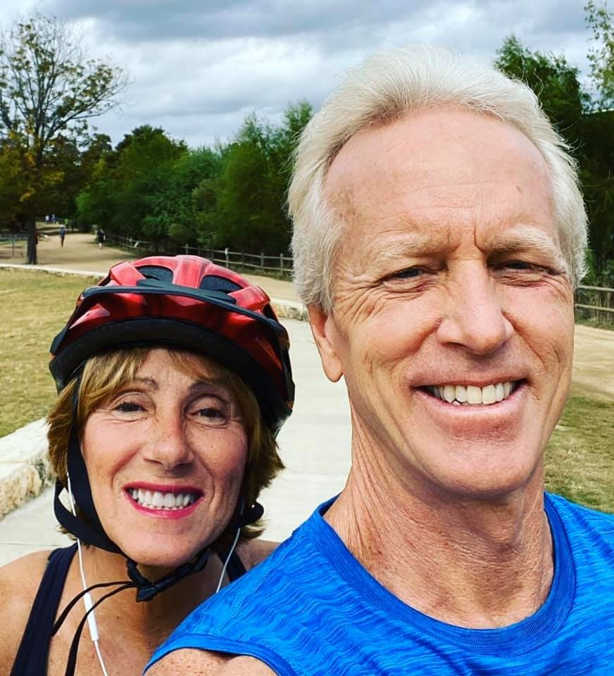 Christina & Kevin Biking at Zilker