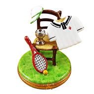 Tennis Chair W/Racquet/Ball/Shirt Rochard Limoges Box