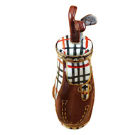 Plaid Golf Bag W/Removable Club Rochard Limoges Box RS072-J