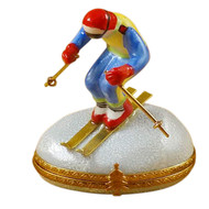 Skier On Mountain Rochard Limoges Box