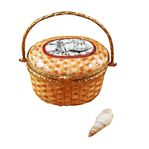 Nantucket Basket Lighthouse Rochard Limoges Box