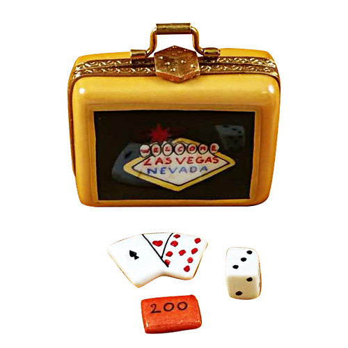 Suitcase Welcome To Las Vegas Rochard Limoges Box