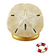 Sand Dollar With Life Buoy Rochard Limoges Box