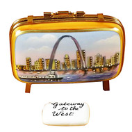 St. Louis Suitcase Rochard Limoges Box