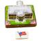 White House W/Removable Flag Rochard Limoges Box