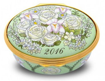 Halcyon Days Enamel Box 2016 Annual Year Box 002/10660