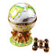 Globe With Lions And Removable Binoculars Rochard Limoges Box