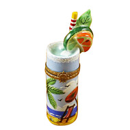 Tropical Cocktail Glass Rochard Limoges Box