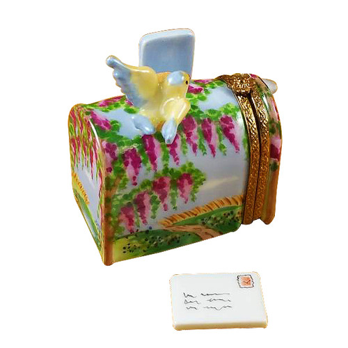 Mailbox Wisteria Yellow Bird Rochard Limoges Box