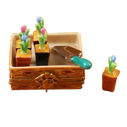 Flower Box W/Shovel Rochard Limoges Box