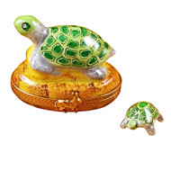 Limoges Imports Turtle On A Rock Limoges Box