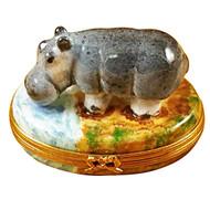 Limoges Imports Hippopotamus Limoges Box