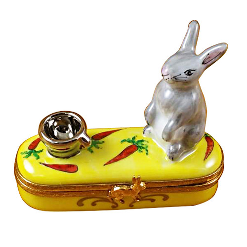 Limoges Imports Rabbit With Bowl Limoges Box